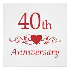 40th Wedding Anniversary My Husband And I Have Been Married For Over 40 Wonderful Years