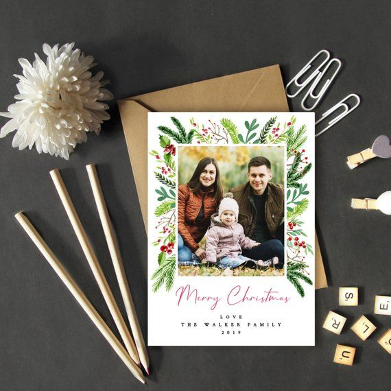 Christmas Card With Photo