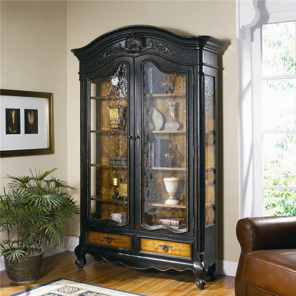 Mobile Display Cabinet North Hampton Bonnet Top Display Cabinet By Hooker Furniture