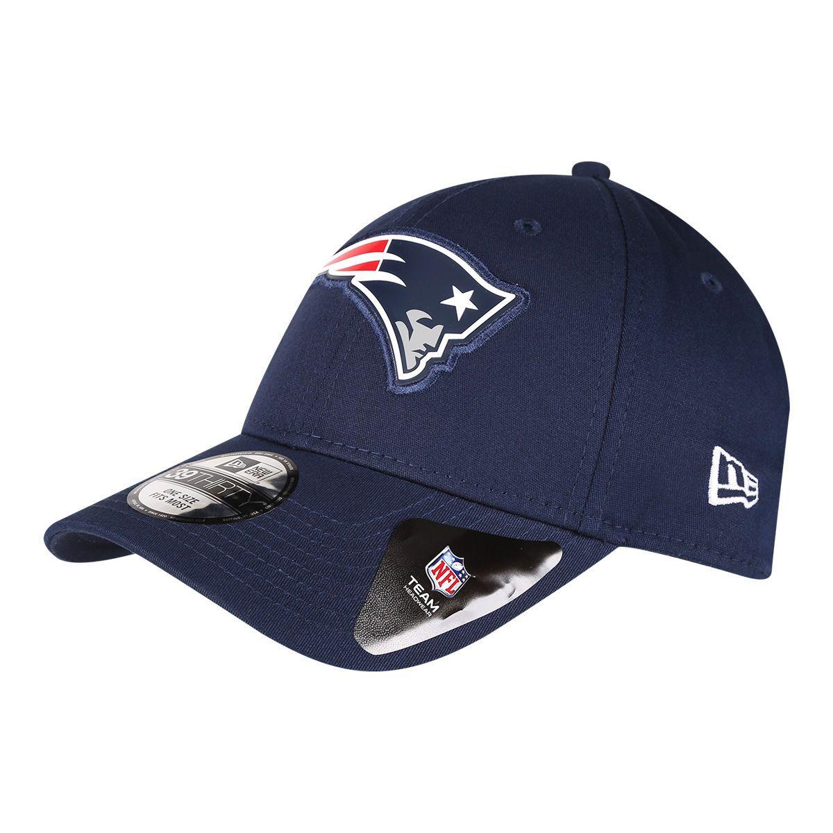 20d93ebbd2 Boné New Era NFL New England Patriots Aba Curva 3930 Lic996 Su17 Neepat -  Marinho