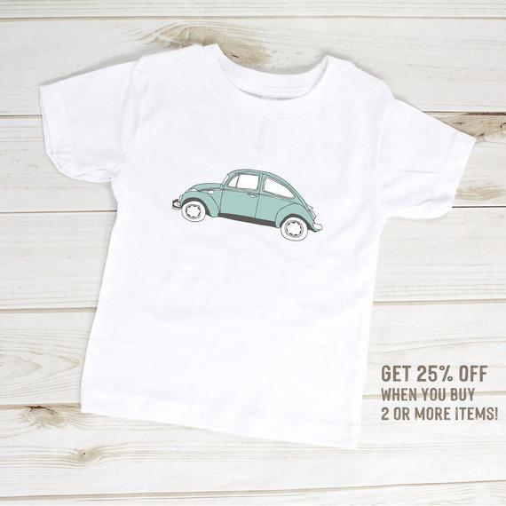 VW Bug Toddler T-Shirt, Classic Car Clothes, Volkswagen Bug Baby, Classic Volkswagen Bug, Hipster Kids Clothes, Kids Car Clothes, Hippie Kid