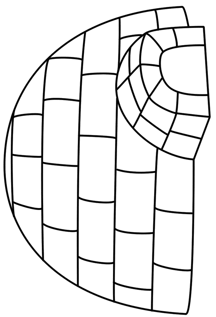 Igloo coloring page | Toddler crafts | Pinterest | Winter ...