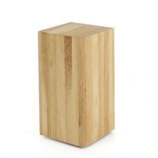 85 euros bout de canap en ch ne h50cm block tables. Black Bedroom Furniture Sets. Home Design Ideas