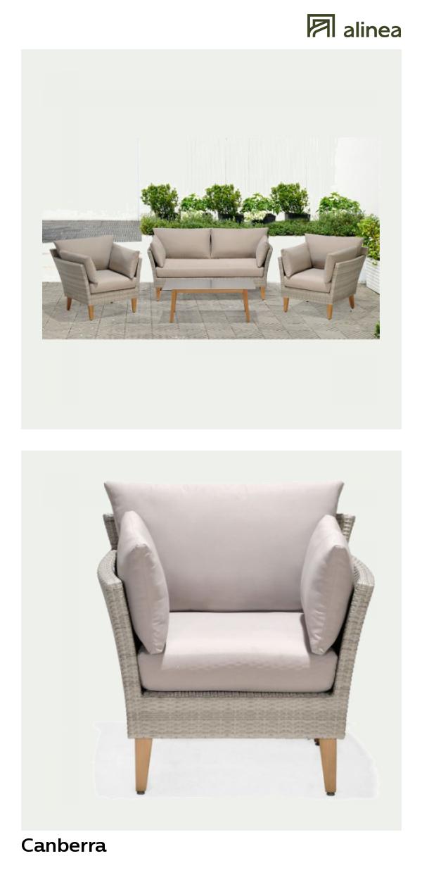 alinea : canberra salon de jardin finition rotin tressé gris clair ...