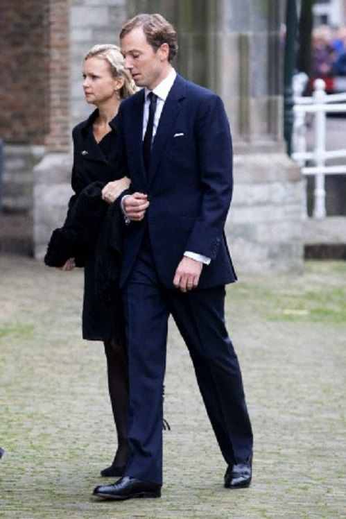 Princess Carolina de Bourbon de Parme and Albert Brenninkmeijer arrive at the Old Church in Delft, The Netherlands, for the memorial of Prince Friso, 02.11.13.
