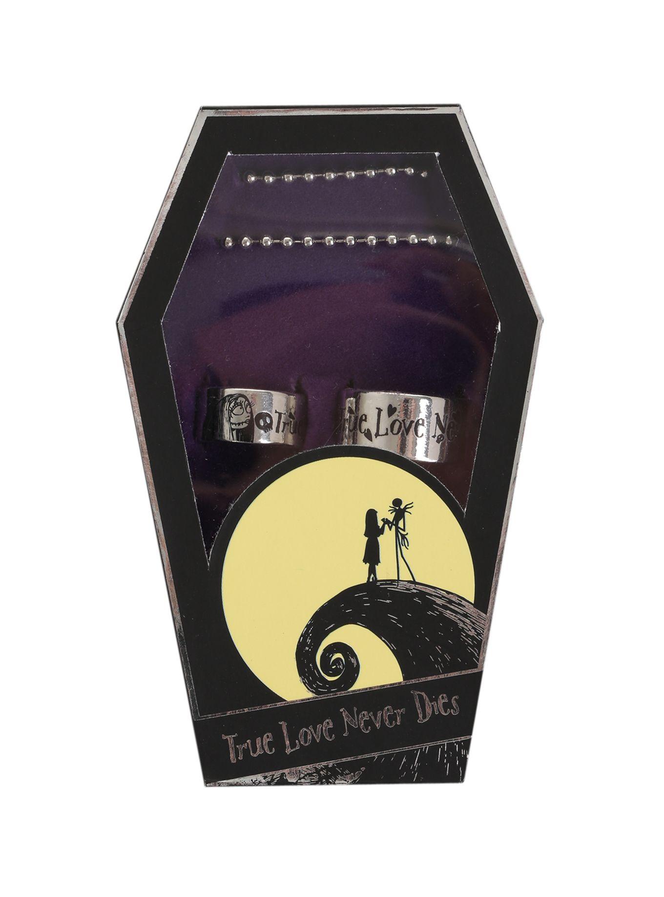 The Nightmare Before Christmas True Love Never Dies Ring Set   Hot ...