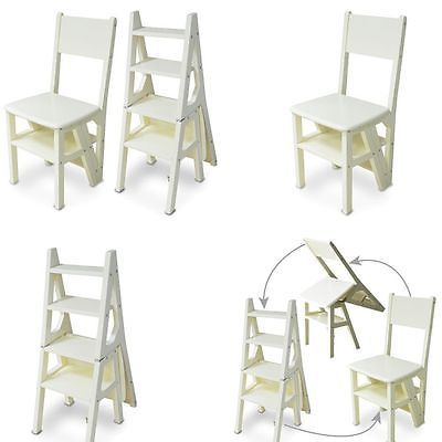 Innovative Creative Folding Up Library Steps Step Ladder Chair