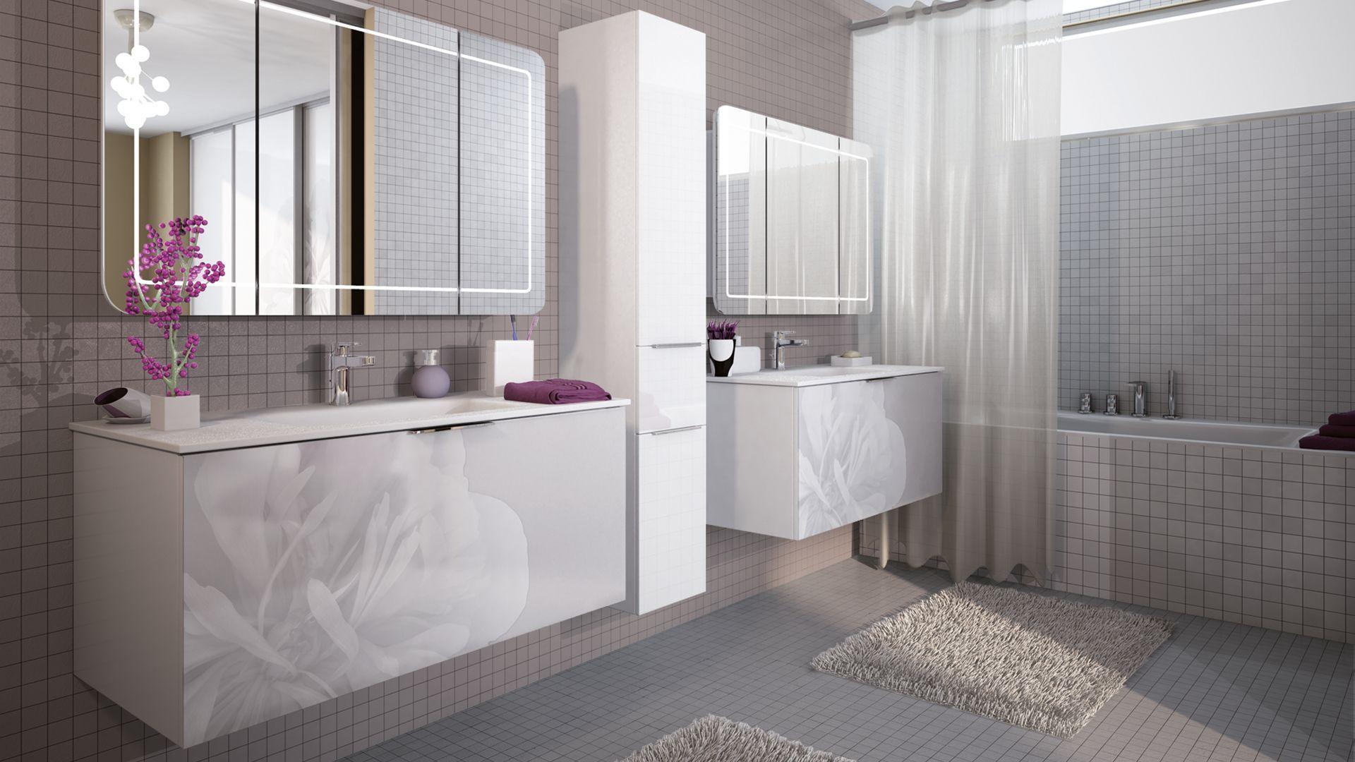 salle de bain flower meuble de salle de bains design verre cuisinella salle de bains. Black Bedroom Furniture Sets. Home Design Ideas
