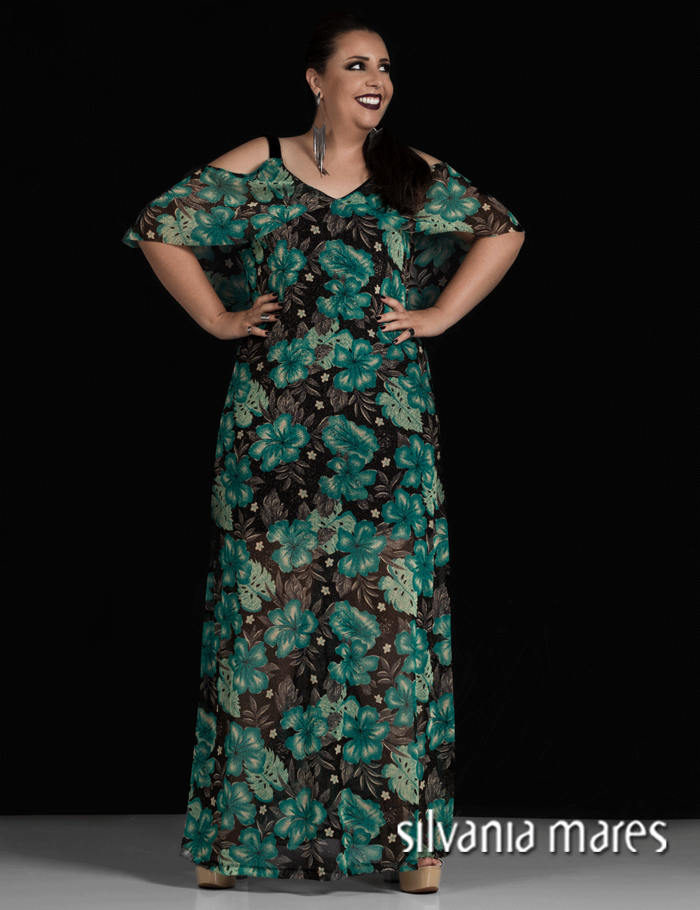 Vestidos longos plus size verao 2018