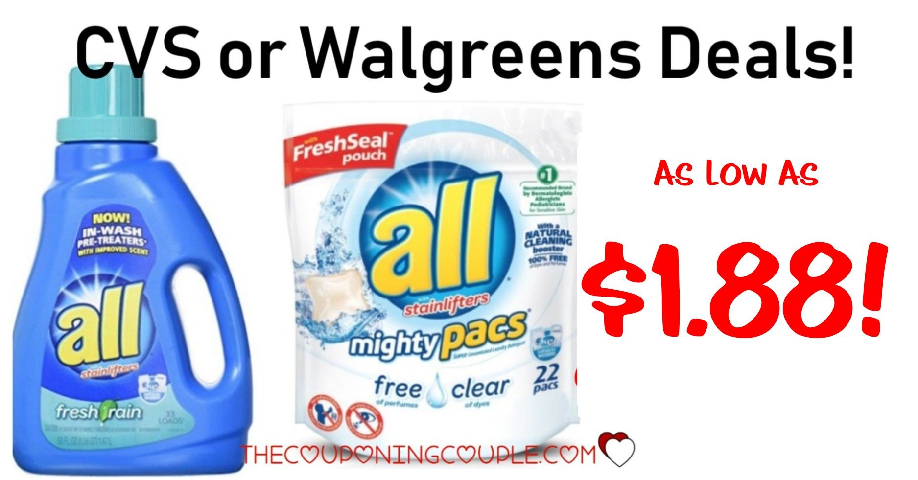 All Laundry Detergent Deal 1 68 With A Walmart Deal Laundry