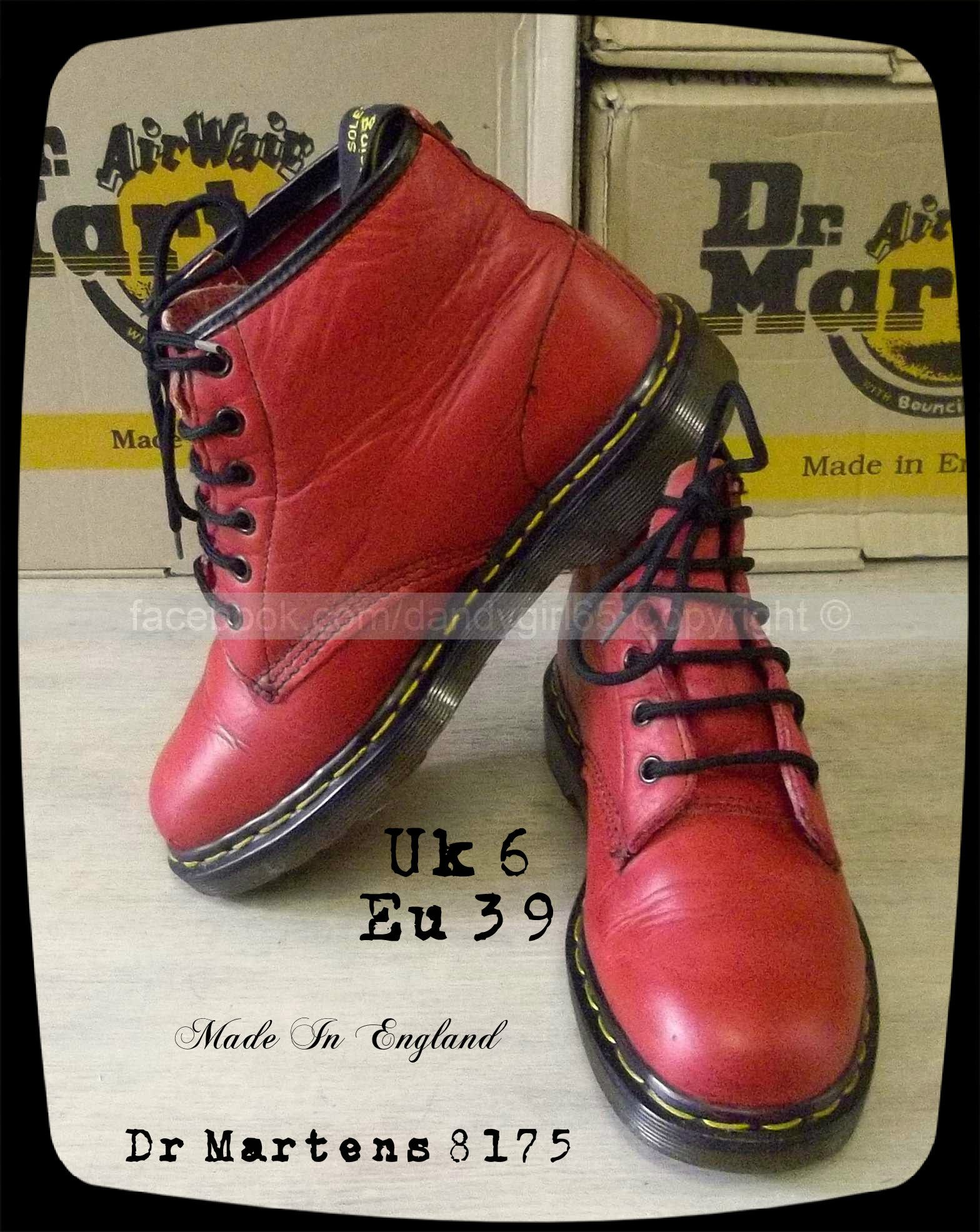 pas mal 1317d 8cea2 Dr Martens 8175 Vintage Uk6 ou Eu39 Made In Engand Couture ...