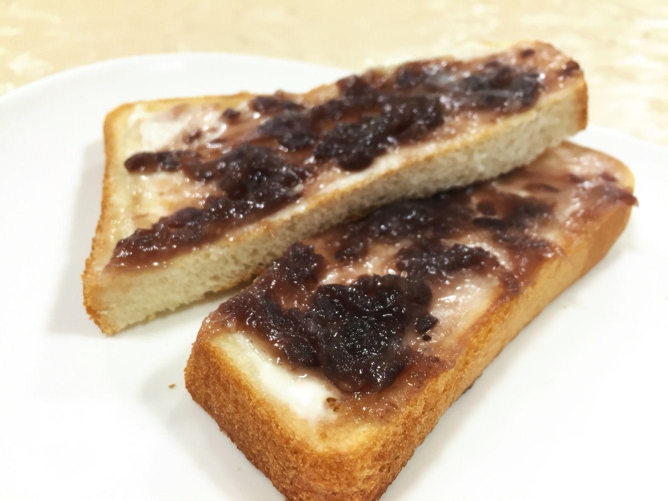 キリクリームチーズをつ買って小倉トースト