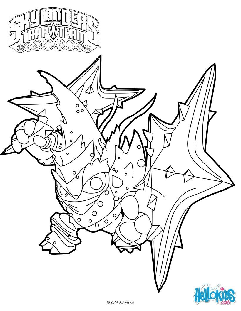 Free coloring pages for skylanders - Skylanders Trap Team Coloring Pages Lob Star
