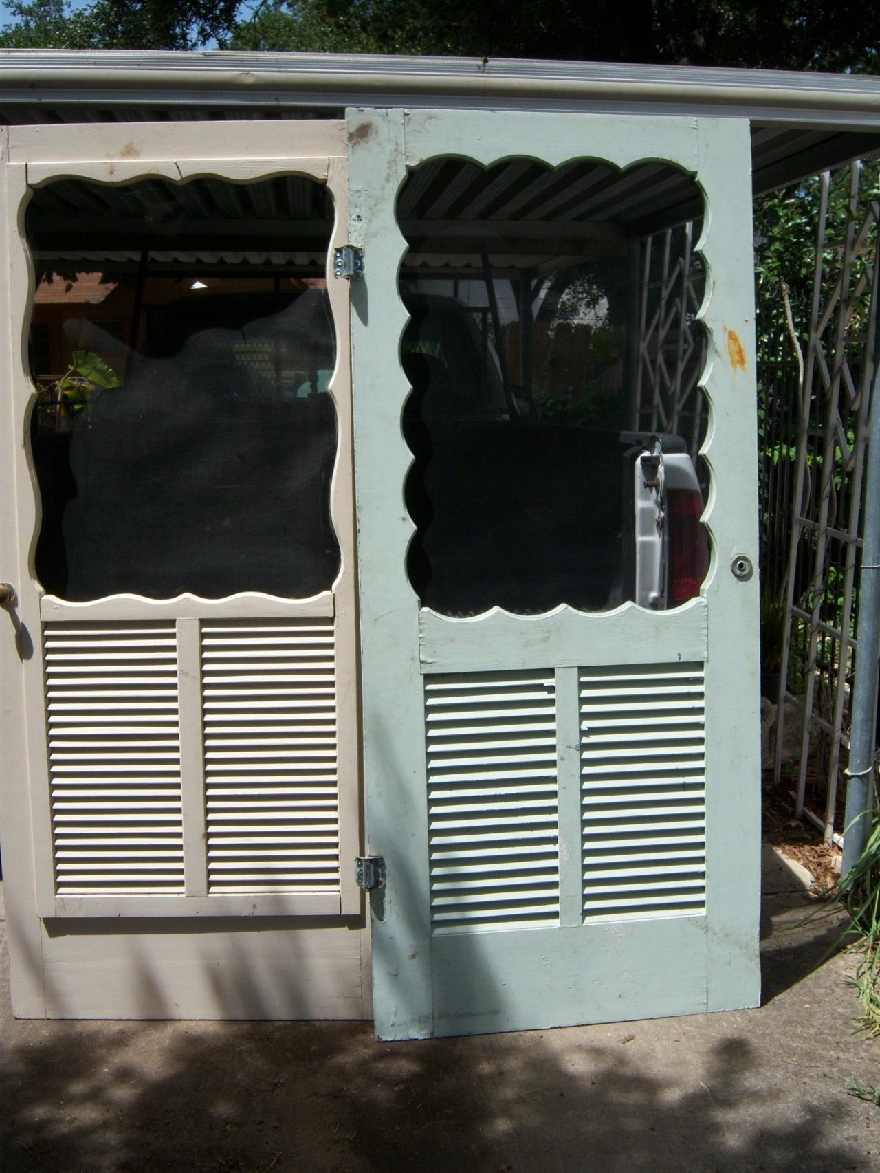 Vintage Wood Screen Doors. $150