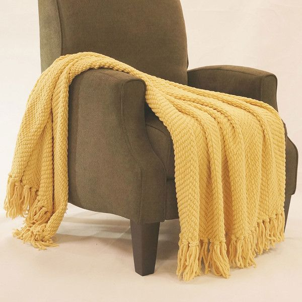 Mustard Yellow Throw Blanket Fascinating Mustardyellow Throw Blanket From Wayfair Httpwwwwayfair 2018