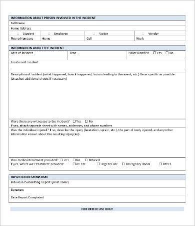 Police report template 9 free word pdf documents download Template