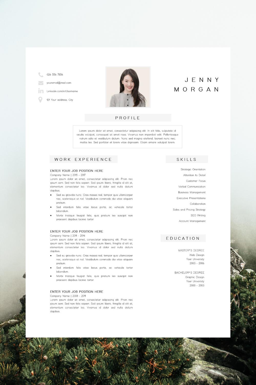 Resume Template PDF CV Resume Sample Jenny in