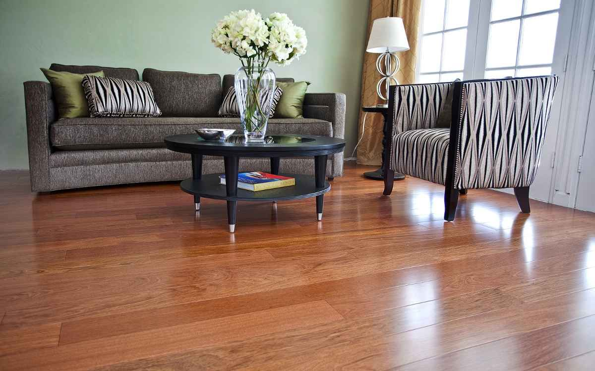 Living Room Decorating Ideas With Wood Floors | Laminated Brazilian Koa Hardwood  Flooring For Living Room