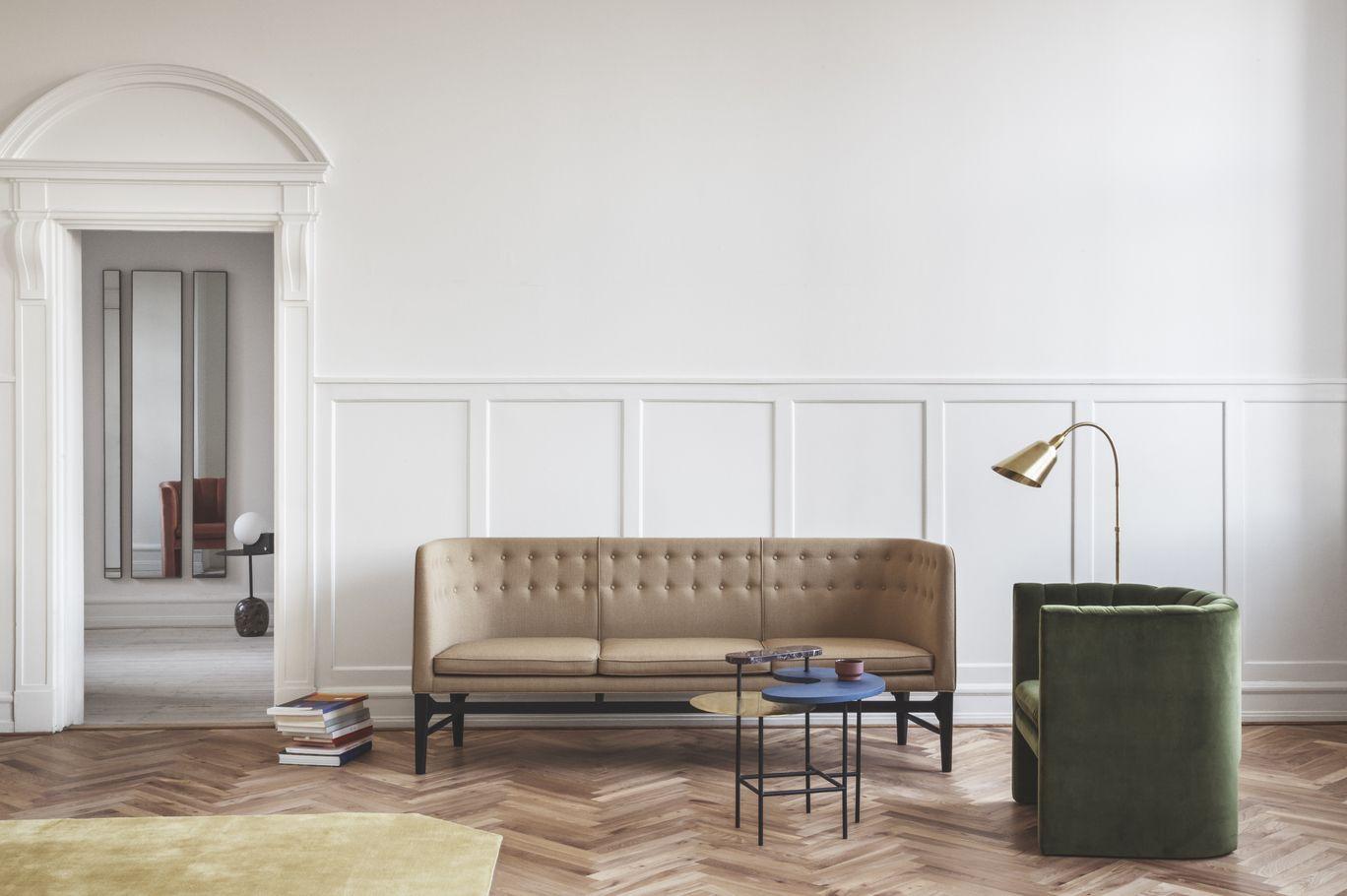 Mayor Sofa By Arne Jacobsen Bellevue Lamp By Arne Jacobsen Palette Table By Jaime Hayon Contemporary Furniture Design Contemporary Furniture Interior Design