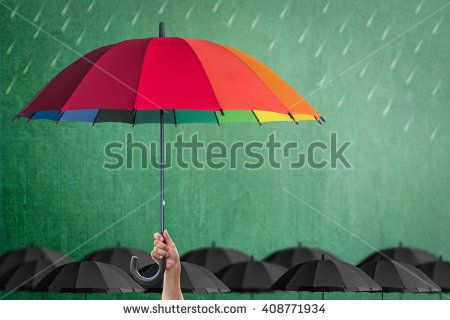 Life Health Insurance Protection Or Business Financial Leadership Concept With Leader S Hand Holding Rainbow