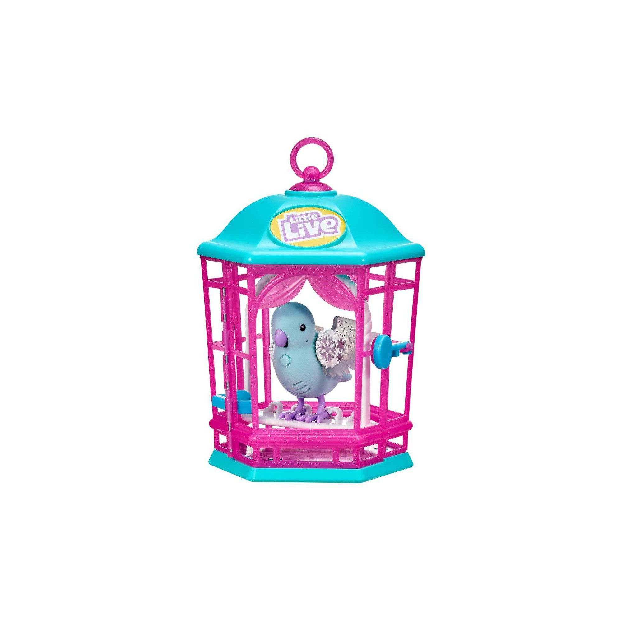 Little Live Light Up Song Bird In Cage Snow Gleam Little Live