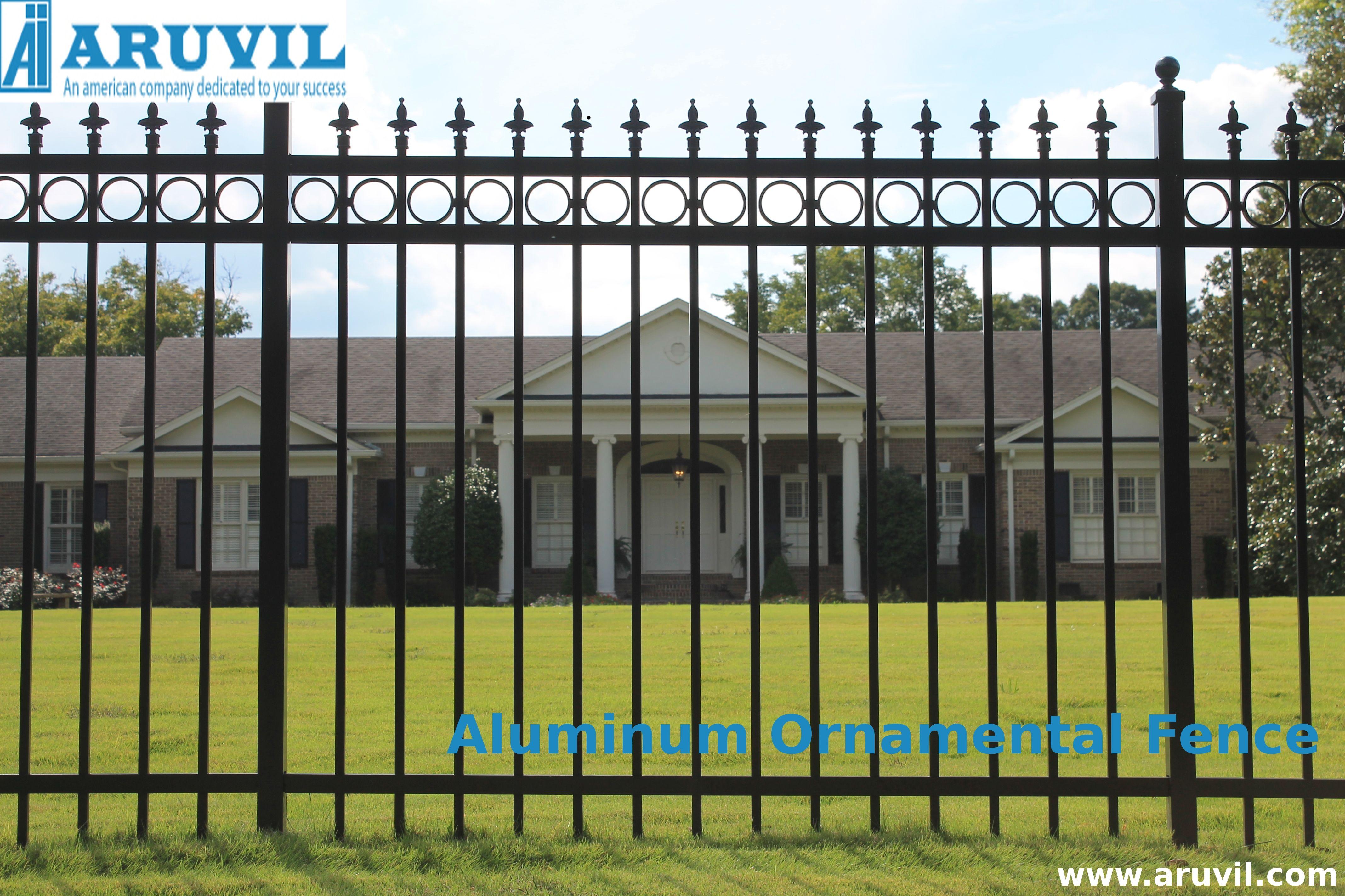 Aluminum ornamental fences for durable boundaries