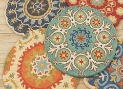 Charming ROUND WOOL RUGS From Tuesday Morning $29.99
