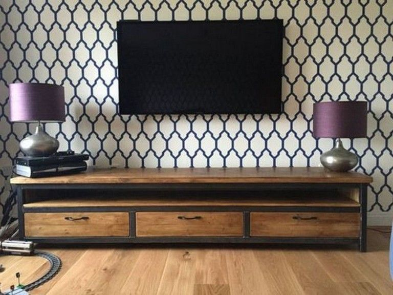 23 Awesome Diy Industrial Tv Stand Designs You Can Create By Yourself Vintage Industrial Furniture Industrial Style Sideboard Tv Stand Designs