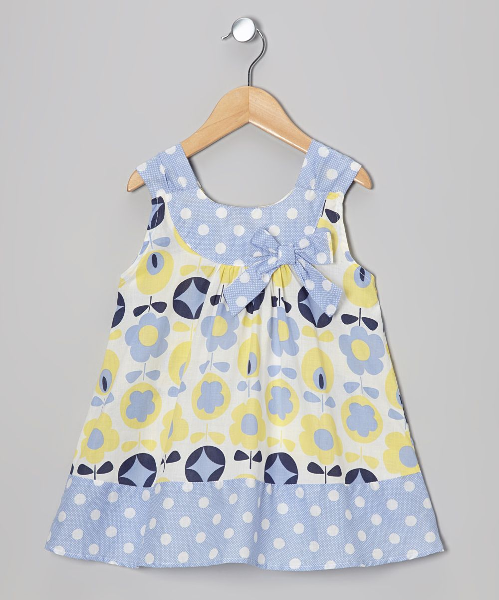 Yellow dress kids  Blue u Yellow Floral Yoke Dress  too cute  Pinterest  Grand kids