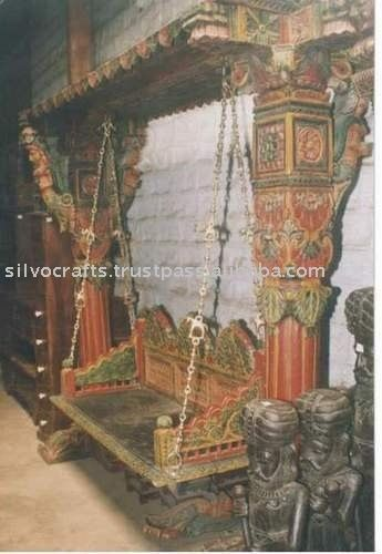 Royal Indian Rajasthani Jodhpur Hand Carved Wooden Swing Jhula (Indian  Antique Reproduction Furniture)