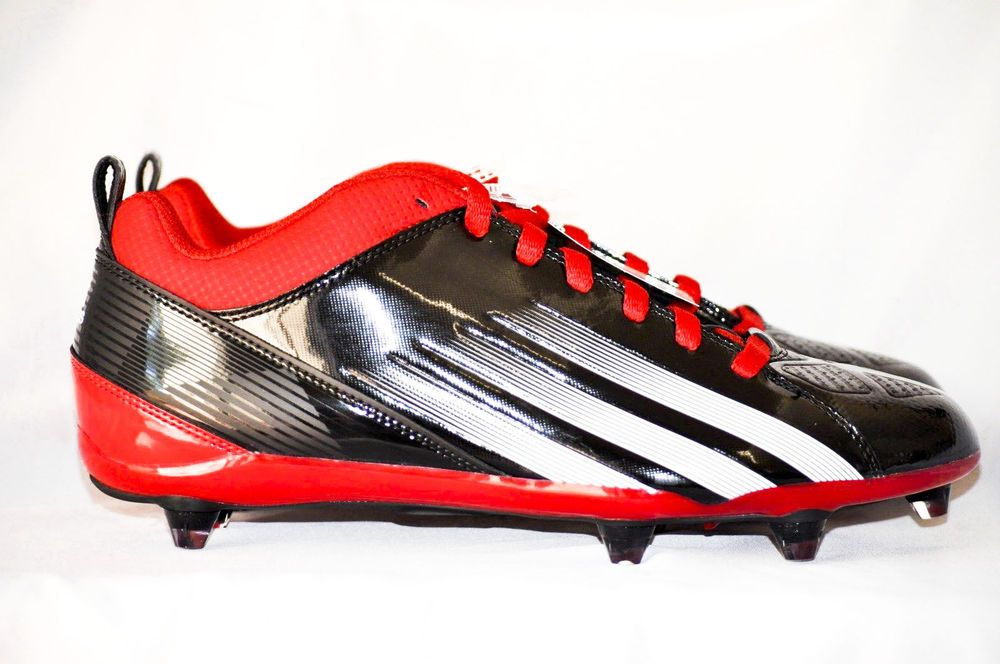 new concept 00ae6 8f05f adidas Lightning D 5 8 Football Cleats Red Black White Men size 10.5 D NEW