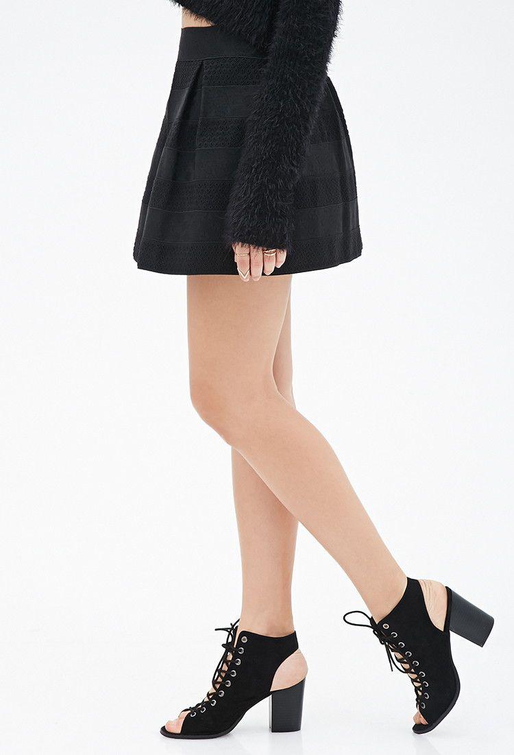 Box-Pleated Mini Skirt - Skirts - 2000120403 - Forever 21 EU English