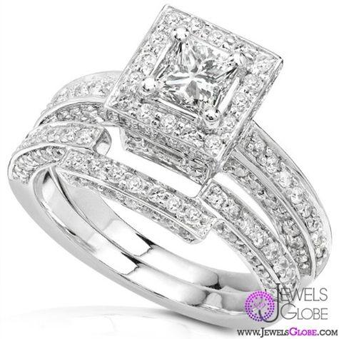 Sterling Silver wedding sets diamond CZ cubic zirconia
