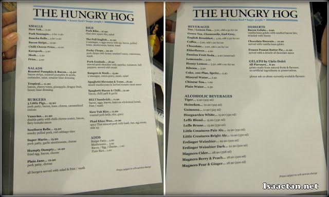 The Hungry Hog Restaurant Menu Menu Restaurant Hungry Restaurant