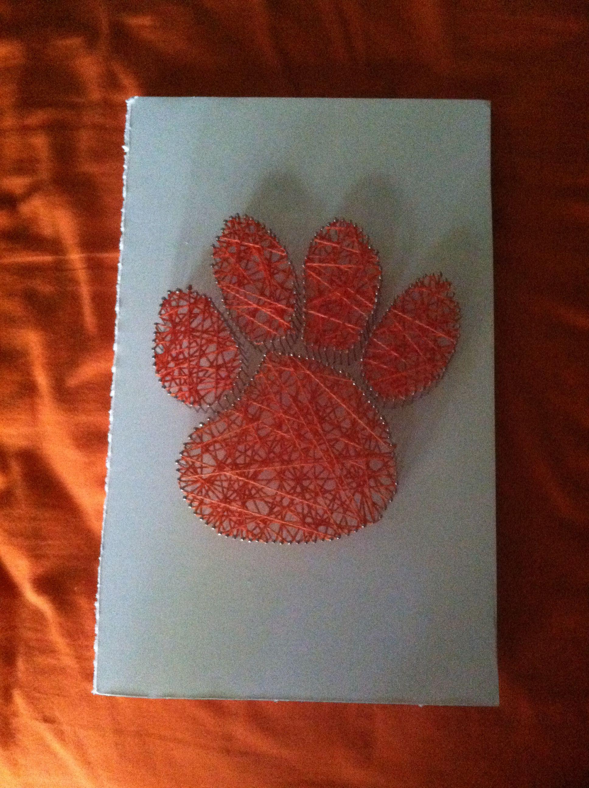 Clemson Paw String Art! | String Art Ideas | Pinterest | Basteln