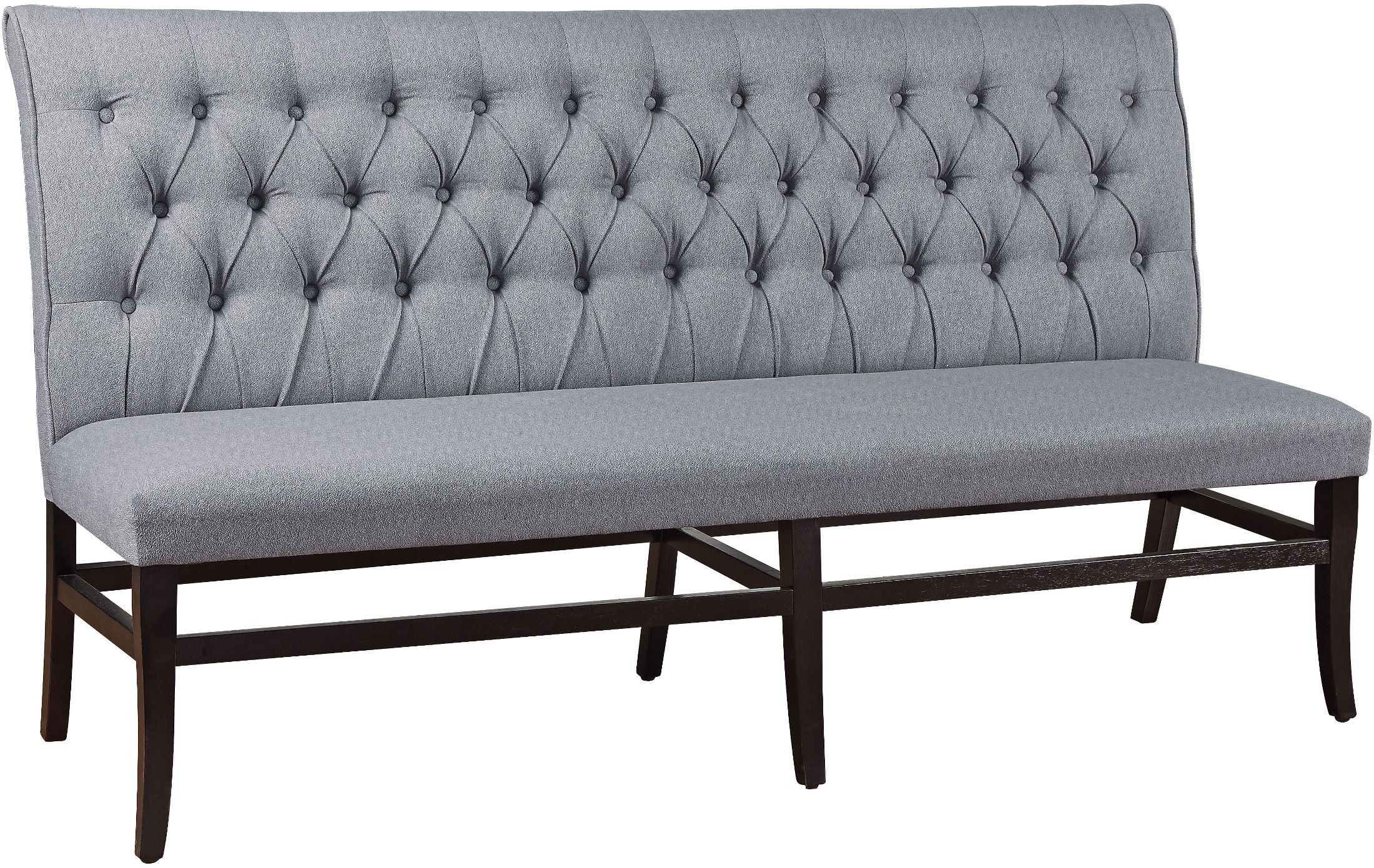Regal Vintage French Upholstered Fabric Bench Blackwood Black Dining Bench From Coast To Coast Coleman
