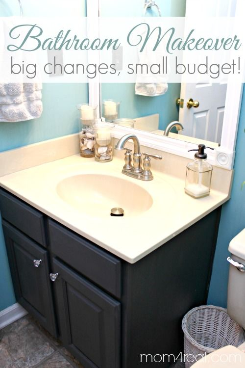 Bathroom Makeovers On The Cheap budget bathroom makeover | mom, vanities and budget bathroom makeovers