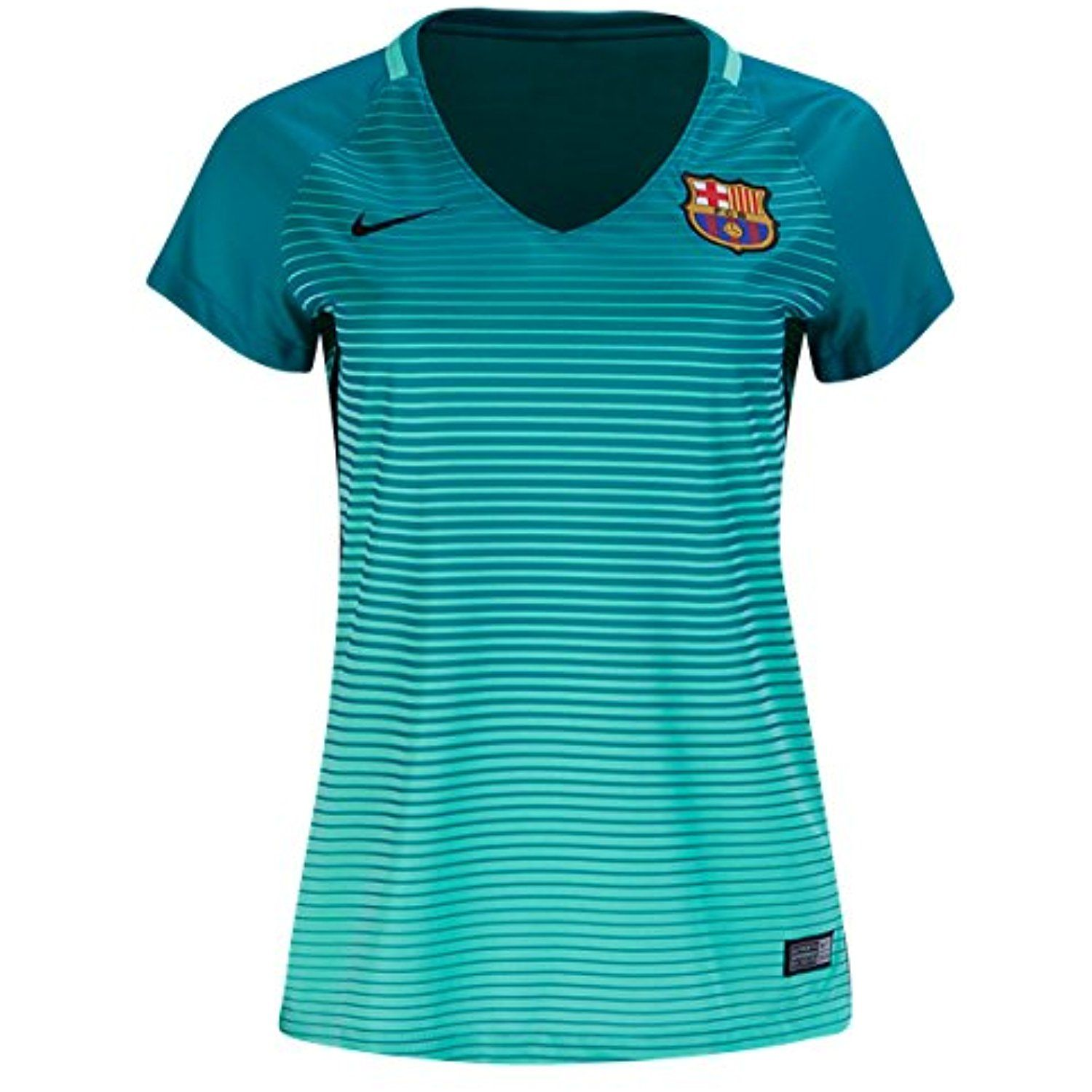 ... Women s Barcelona Fc 16 17 Third Jersey Green Glow Energy Black   You  can get more details by clicking on the image. (This is an affiliate link)   Shirts 53646627b8