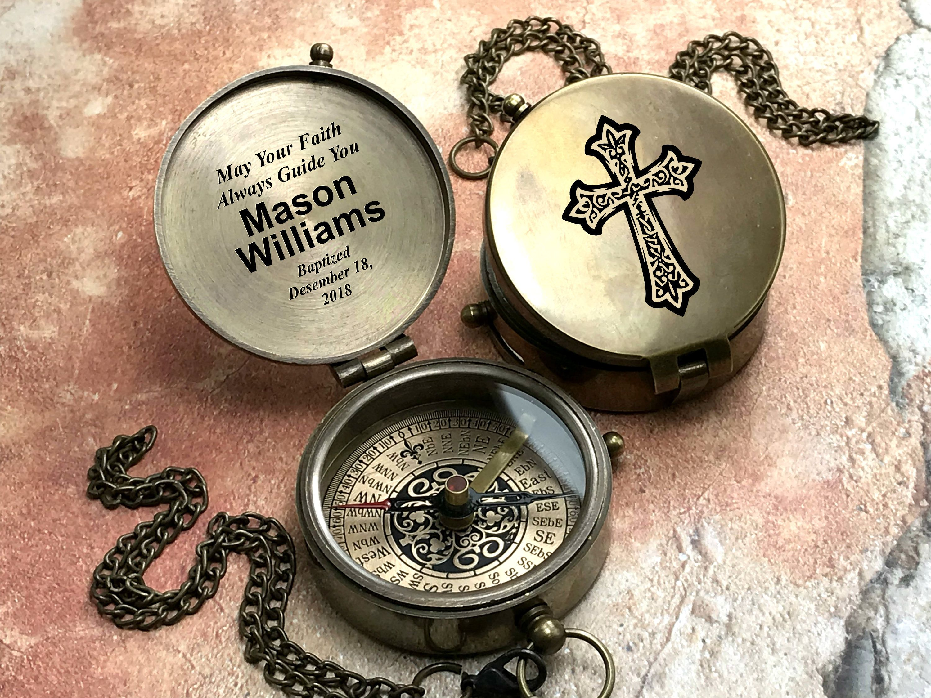 Compass baptism gift confirmation gift first communion