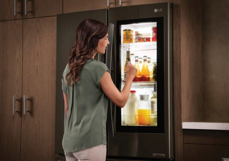 The Lg Instaview Is A Fridge You Can See Through With A Knock American Luxury Smart Fridge Best Refrigerator Refrigerator Models
