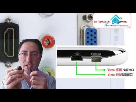 como puedo conectar mi celular al TV micro usb vs micro