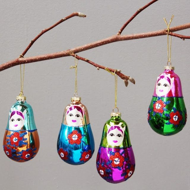 russian dolls christmas decoration