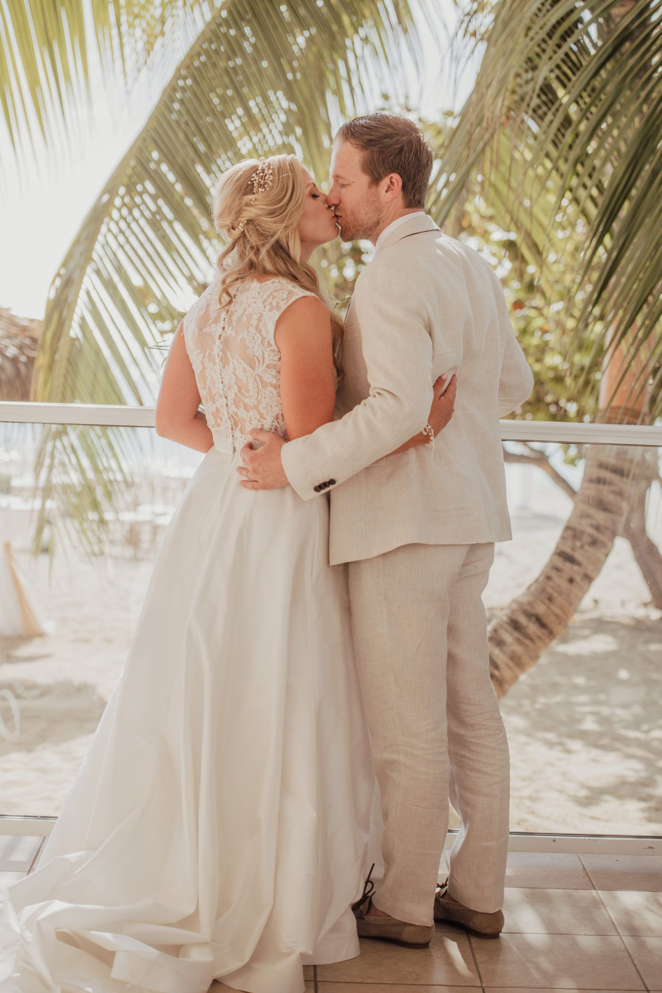 Caribbean wedding dress  Elegant Destination Wedding at the Caribbean Club  Pinterest