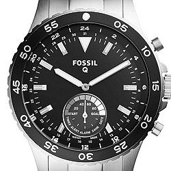 Q Crewmaster Hybrid Stainless Steel Smartwatch