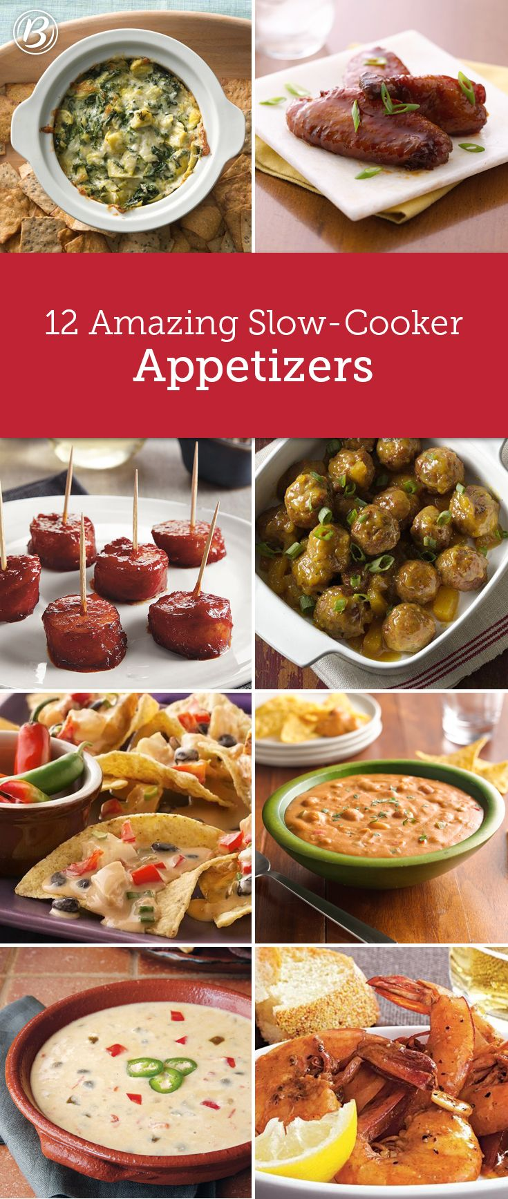 These 12 appetizers aren't only delicious, they're made extra-easy with help from our favorite kitchen helper—the slow cooker!