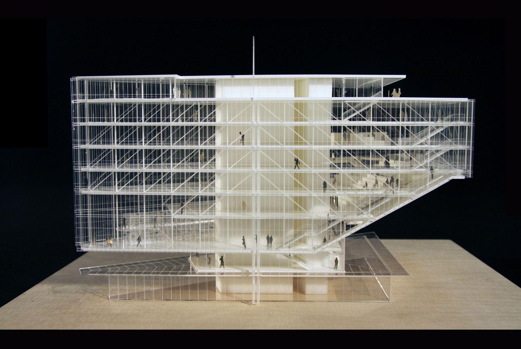 Model maison des avocats paris renzo piano archi for Model architecture maison