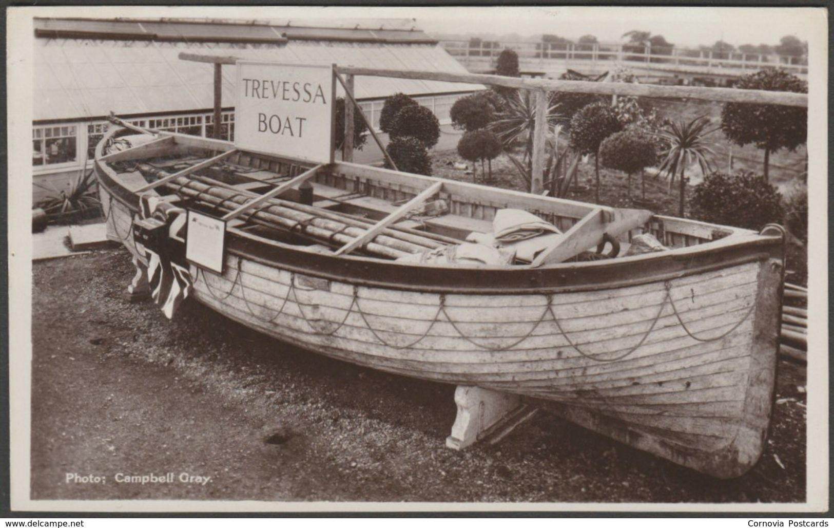 Lifeboat from SS Trevessa, c.1924 - RP Postcard