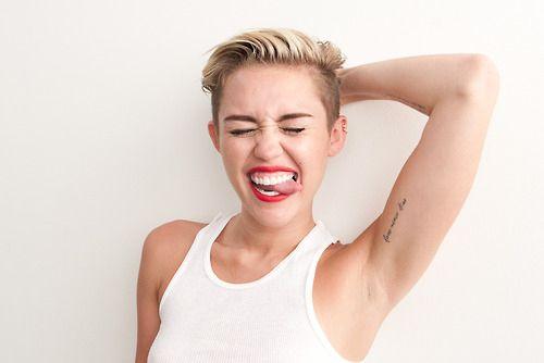 Miley cirus hairy arms