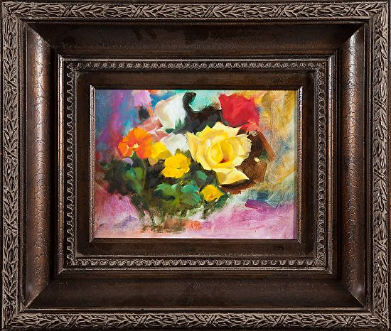Yellow Rose by Dorothy Woolbright Oil ~ 12 x 9