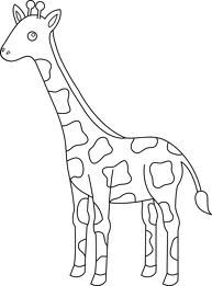Pin By Bourbon Sparkle On Giraffe Giraffe Coloring Pages